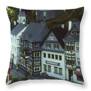 Miniature Village Throw Pillow