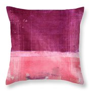 Minima - S02b Pink Throw Pillow