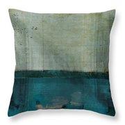 Minima - S02b Turquoise Throw Pillow