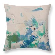 Minimal Blue Throw Pillow