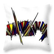 Minimalist 1 White Throw Pillow