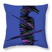 Minimalist 2 Blue Throw Pillow