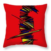 Minimalist 2 Red Throw Pillow