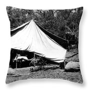 Mining Camp Throw Pillow