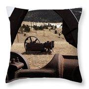 Mining Equipment Throw Pillow