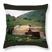 Mining In Anamas Forks Throw Pillow