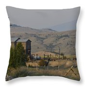 Mining In Butte Throw Pillow