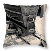 Mining Ore Cart Throw Pillow