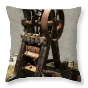 Mining Portable Stamp Mill Throw Pillow by Daniel Hagerman