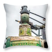 Minneapolis Steam Engine Throw Pillow