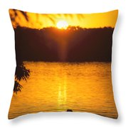 Minneapolis Sunset Love Throw Pillow