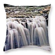 Minneopa Falls Upper Throw Pillow