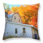 Minnesota Barn Throw Pillow