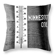 Minnesota Cold Throw Pillow