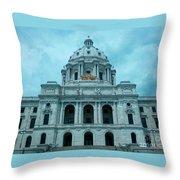 Minnesota State Capitol Throw Pillow