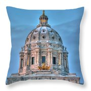 Minnesota State Capitol St Paul Mn Throw Pillow