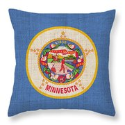 Minnesota State Flag Throw Pillow by Pixel Chimp