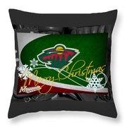 Minnesota Wild Christmas Throw Pillow