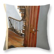 Minnie Crossing The Threshold  Throw Pillow