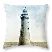 Minots Ledge Lighthouse Throw Pillow