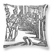 Minstrels, 17th Century Throw Pillow