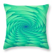 Mint Cave Throw Pillow