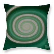 Mint Green Swirl Throw Pillow