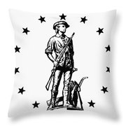 Minuteman Throw Pillow