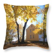 Minuteman National Historic Park Brooks House Throw Pillow by John Burk