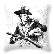 Minutemen Soldier Throw Pillow