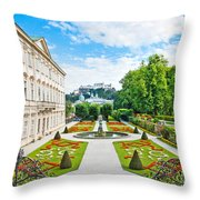 Mirabell Gardens In Salzburg Throw Pillow