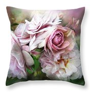 Miracle Of A Rose - Mauve Throw Pillow