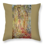 Miracle Of A Virgin  Throw Pillow by Karina Llergo