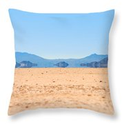 Mirage In The Death Valley Throw Pillow