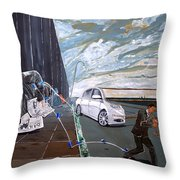 Mirages Of Lives Throw Pillow