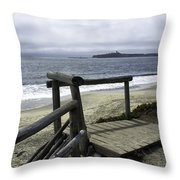 As Summer Ends On Miramar Beach Throw Pillow