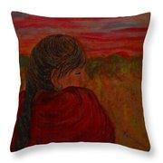 Miriam's Sunset Throw Pillow