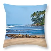 Mirissa Beach Sri Lanka Throw Pillow