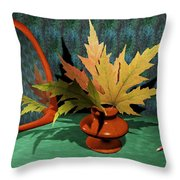 Mirror And Leaves Throw Pillow