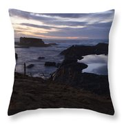 Mirror At Glass Beach Throw Pillow
