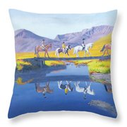 Mirror In The Cairngorms Throw Pillow