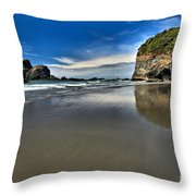 Mirror In The Sand Throw Pillow