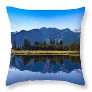 Mirror Lake Panorama Throw Pillow