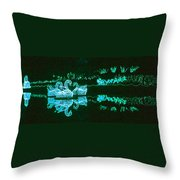 Mirror Lake Reflections In Teal Throw Pillow
