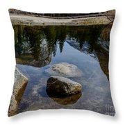 Mirror Lake Threesome 2 Yosemite Throw Pillow