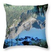 Mirror Lake Two New Zealand Throw Pillow