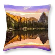 Mirror Lake Yosemite National Park Throw Pillow