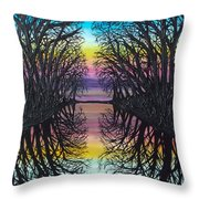 Mirror Water Throw Pillow