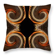 Mirrored Abstract Throw Pillow