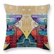Mirrored Aztec Dog Throw Pillow